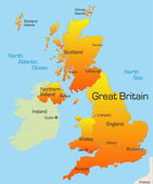 Great Britain map — Stock Vector