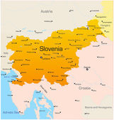 Abstract vector color map of Slovenia country — Stock Vector