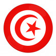 Tunisia button with flag — Stock Photo