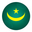Mauritania button with flag — Stock Photo