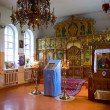 Interior of Orthodox church — Foto Stock