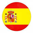Spain button with flag — Stock Photo