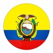 Stock Photo: Ecuador button with flag