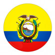 Royalty-Free Stock Photo: Ecuador button with flag