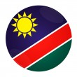 Namibia button with flag — Stockfoto