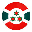 Burundi button with flag — Stock Photo
