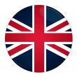 Foto de Stock  : Britain button with flag