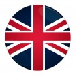 Britain button with flag — ストック写真