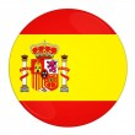 Španělsko tlačítko s příznakem — Stock fotografie