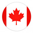 Canada button with flag — Stock Photo
