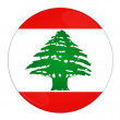 Lebanon button with flag — Stock Photo