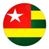 Togo button with flag — Stock Photo