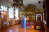 Interior of Orthodox church — Stock Photo