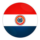 Paraguay button with flag — Stock Photo