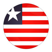 Liberia button with flag — Stock Photo