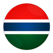 Gambia button with flag — Stock Photo
