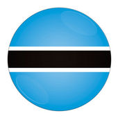 Botswana button with flag — Stock Photo