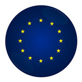 European union button with flag — Stock Photo