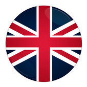 Britain button with flag — Stock Photo