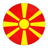 Macedonia button with flag — Stock Photo