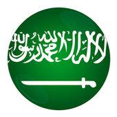 Arabia saudyjska przycisk z flagą — Zdjęcie stockowe
