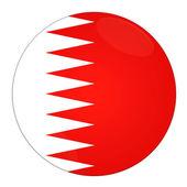Bahrain button with flag — Stock Photo