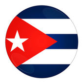 Cuba button with flag — Stock Photo