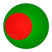 Bangladesh button with flag — Stock Photo