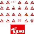 Vector traffic signs — Stock vektor
