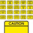 Yellow vector caution signs — Vector de stock