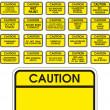 黄色矢量警告标志 — 图库矢量图片