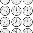 Vector clock faces — Stock Vector #2105752