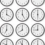 Vector clock faces — Stock Vector