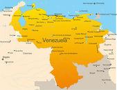 Abstract vector color map of Venezuela country — Stock Vector