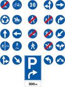 Vector traffic signs — Stock Vector