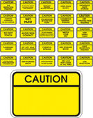 Yellow vector caution signs — Stock Vector