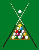 Billiard pool illustration — Stock Vector