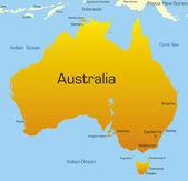 Continente australiano — Vettoriale Stock