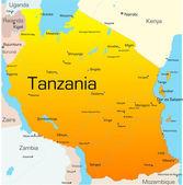 Tanzania — ストックベクタ