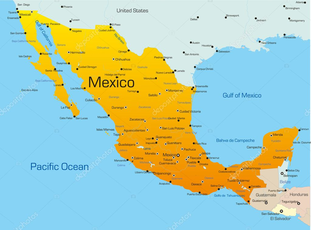 Mexico Vector olinchuk 2101469 – Map of Mesico
