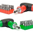 Red and green screwdriver set — Stock Photo #2128526