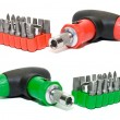 Red and green screwdriver set — Stock Photo
