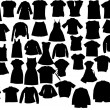Stock Vector: Vector clothes silhuettes
