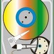 Hard drive — Stock Vector