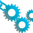 Gears machinery - Stock Vector