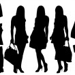 Fashion  silhouettes — Stock Vector