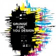 Royalty-Free Stock Vector Image: Grunge background as CMYK color