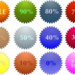 Royalty-Free Stock Vector Image: Color sale tag stickers with discount