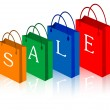 Royalty-Free Stock Vector Image: Sale shopping bags.