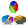 Royalty-Free Stock Vector Image: Pie chart diagrams